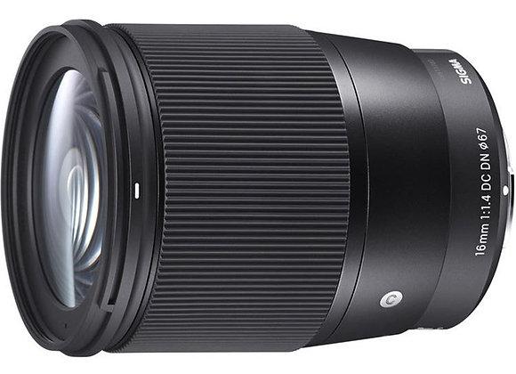 עדשה סיגמא Sigma for Micro 4/3 16mm f/1.4 DC DN Contemporary