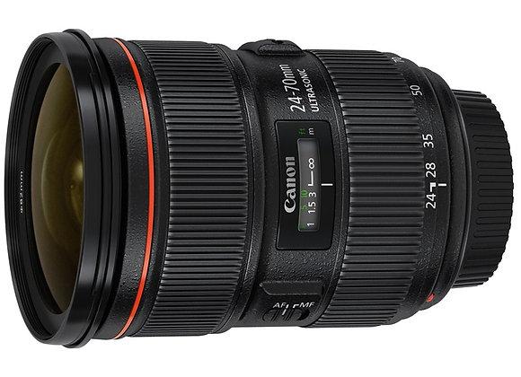 עדשה קנון Canon lens 24-70mm f2.8 L II USM קרט יבואן רשמי