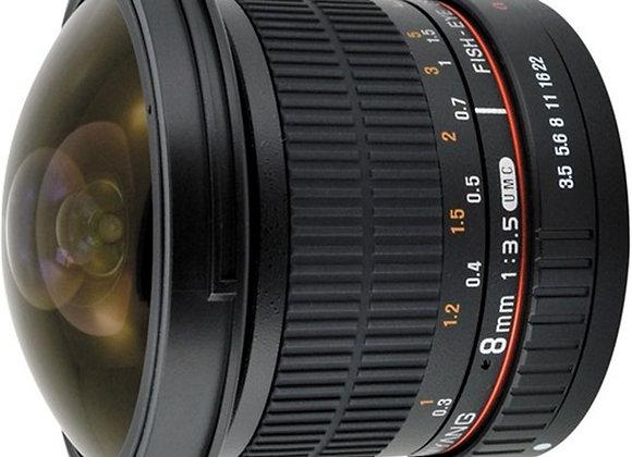 עדשה סאמיאנג Samyang for Canon 8mm Fisheye f/3.5 IF MC