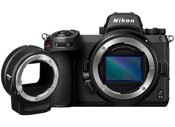 מצלמה חסרת מראה ניקון Nikon Z6II + Ftz Kit - קיט