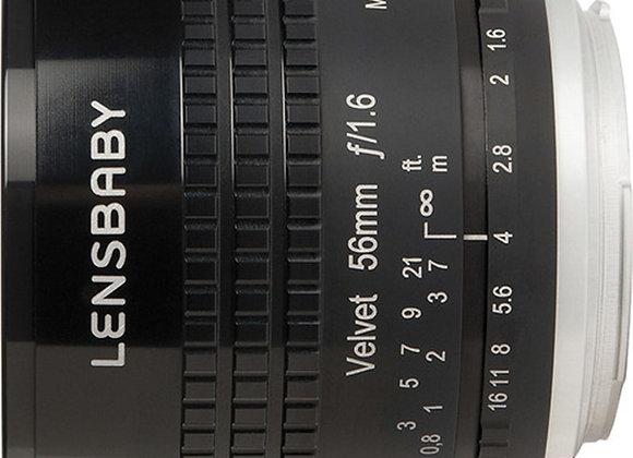 עדשה לנסבייבי Lensbaby lens for Fujifilm X Velvet 56 bl.