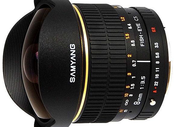 עדשת סאמיאנג Samyang for Pentax 8mm f/3.5 IF MC Fisheye