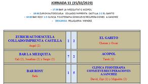 JORNADA 11ª CAMPEONATO DE LIGA