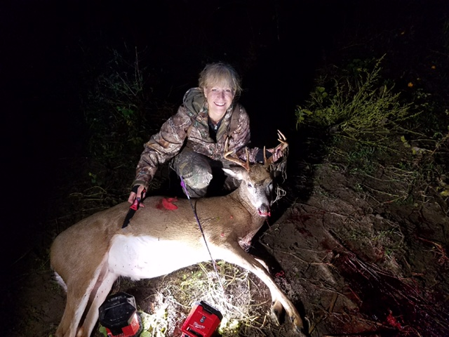 Vicki shot this 8-pointer