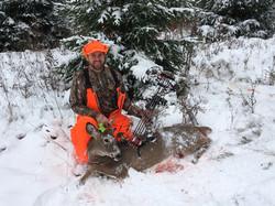 Ben Baumann first deer with a bow