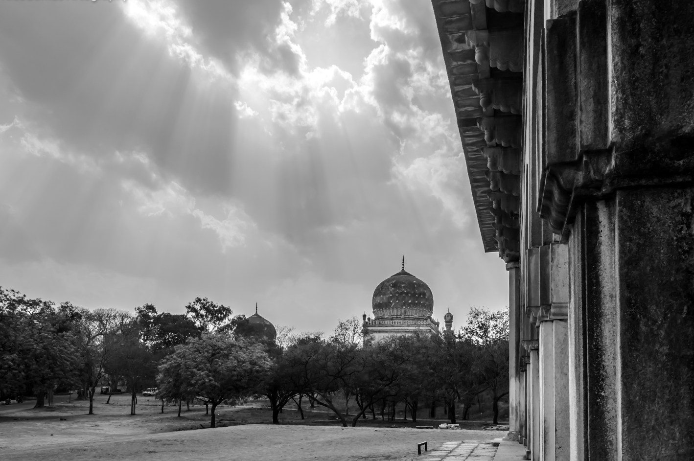 Qutub Shahi Tombs in Hyderabad, India