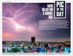 Photograph of Lightning published in Times of India
