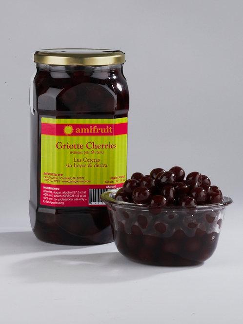 Griottes cherries in Kirsch