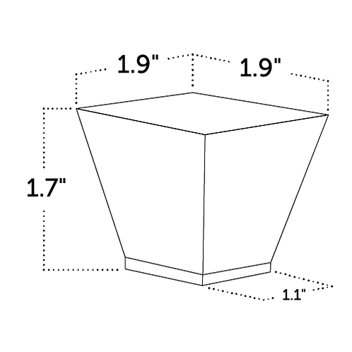 Tapered Square Cup Verrine 1,200 ct.