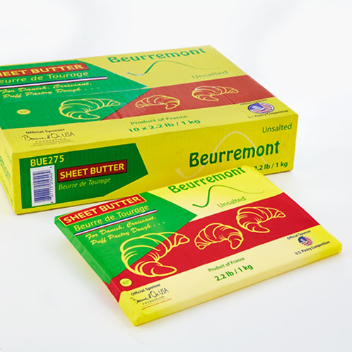 Beurremont 82% Dry Butter Sheets 10/2.2 lb Tourage
