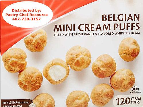 Belgium Mini Cream Puffs - Frozen