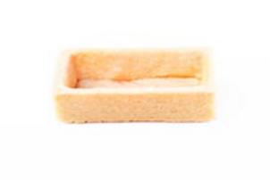 "2"" x 1"" Rectangle Sweet, Coated Tart shell."