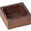 "Thumbnail: 1.5"" Sq. Coated Chocolate Tart shell"