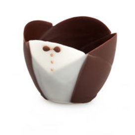 Tuxedo Tulip Mini Cup Chocolate