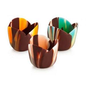 Petit Four Tulip Pastel Chocolate Cups