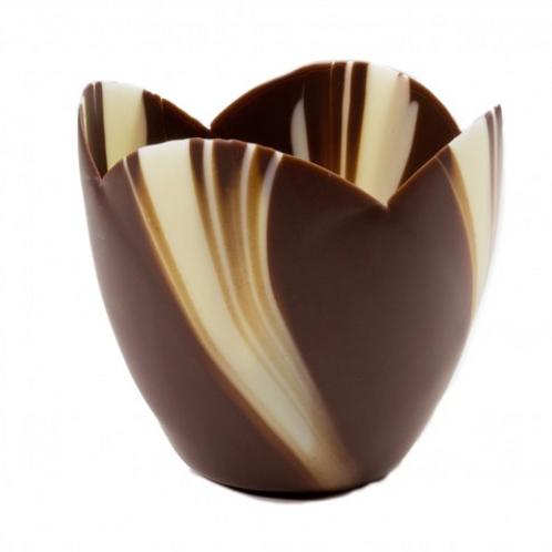 Tulip Medium Marbled Cup Chocolate