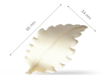 Feuille blanc Chocolate Decor