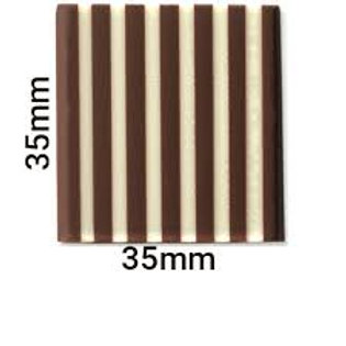 Carré Blanc/Brune Chocolate Decor