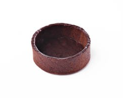 "2"" Round Coated Chocolate Tart shell Deli France"