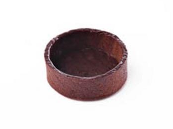 "2"" Round Coated Chocolate Tart shell Deli France"