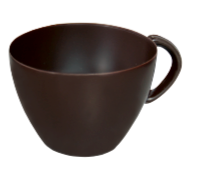 Dark Tea Cup Large Chocolate