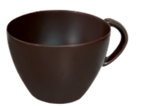 Dark Tea Cup Large Chocolate