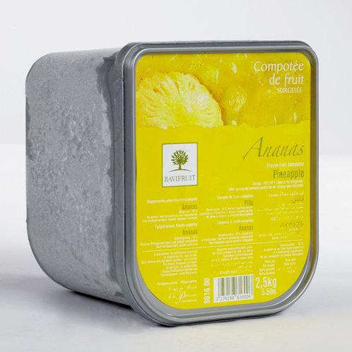 Pineapple w/Vanilla & Coconut Frozen Compote