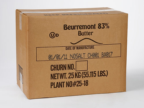 Beurremont 83% Bulk Block Butter 55 lb