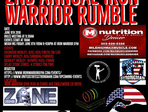 2nd Annual Iron Warrior Rumble
