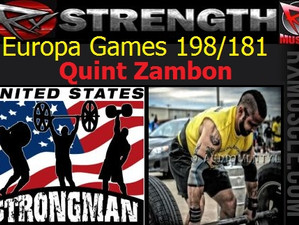 Europa Games 198/181 Athletes! Welcome Quint Zambon!