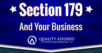Section 179 tax deduction for office equipment from Quality Assured Office Machines, Inc.