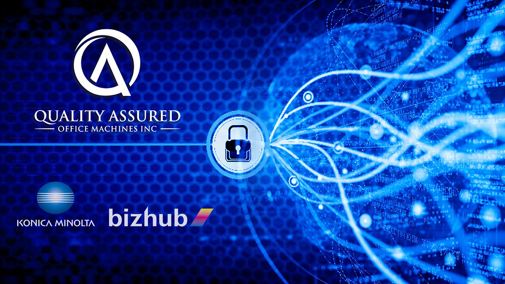 Office network security solutions from QAOM and Konica Minolta bizhub technology.