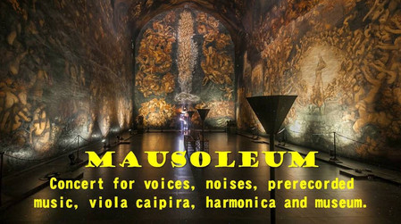 Concert for voices, noises, pre-recorded music, viola caipira and museum.