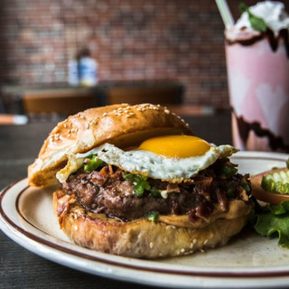 Cricket Burger with a Fired Egg