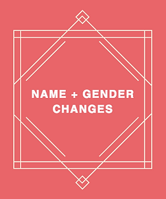Transgender name and gender change help
