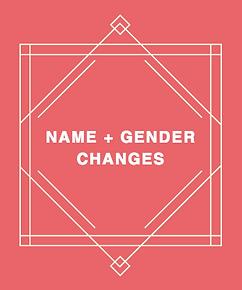 Transgender name and gender change help