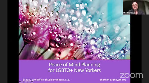 Peace of Mind Planning Webinar (March 2020)