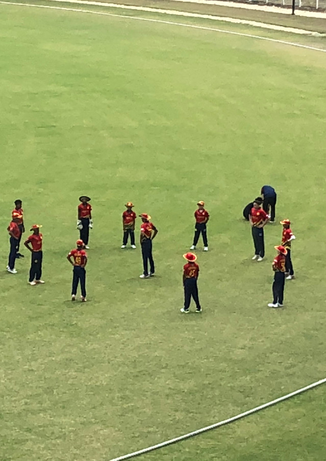 Brian Lara Stadium Game3 Warmup