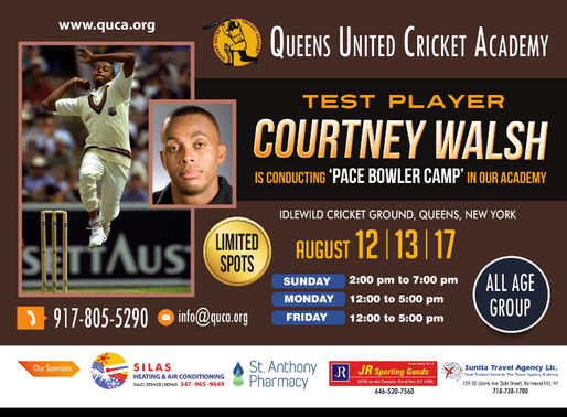 Courtney Walsh Pace Bowling Camp In New York