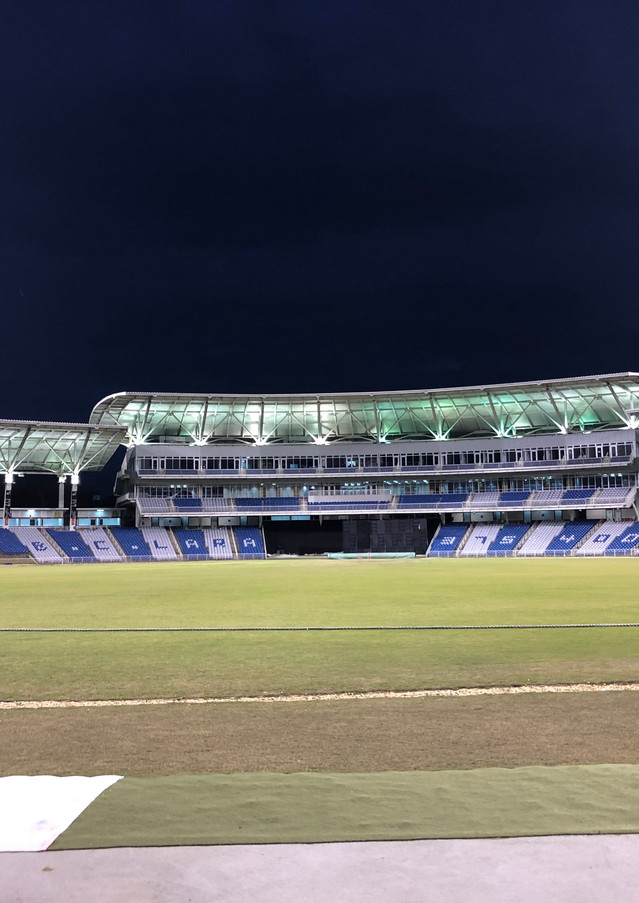 Brian Lara Stadium under lights