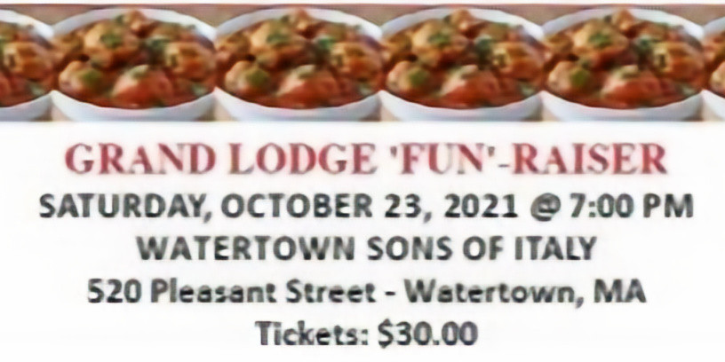 Grand Lodge 'Fun'-Raiser and Meatball Champion Cook-Off
