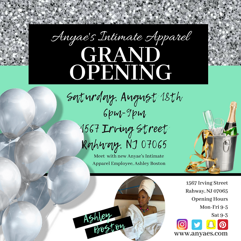 Grand Opening of Anyae's Intimate Apparel Rahway, NJ