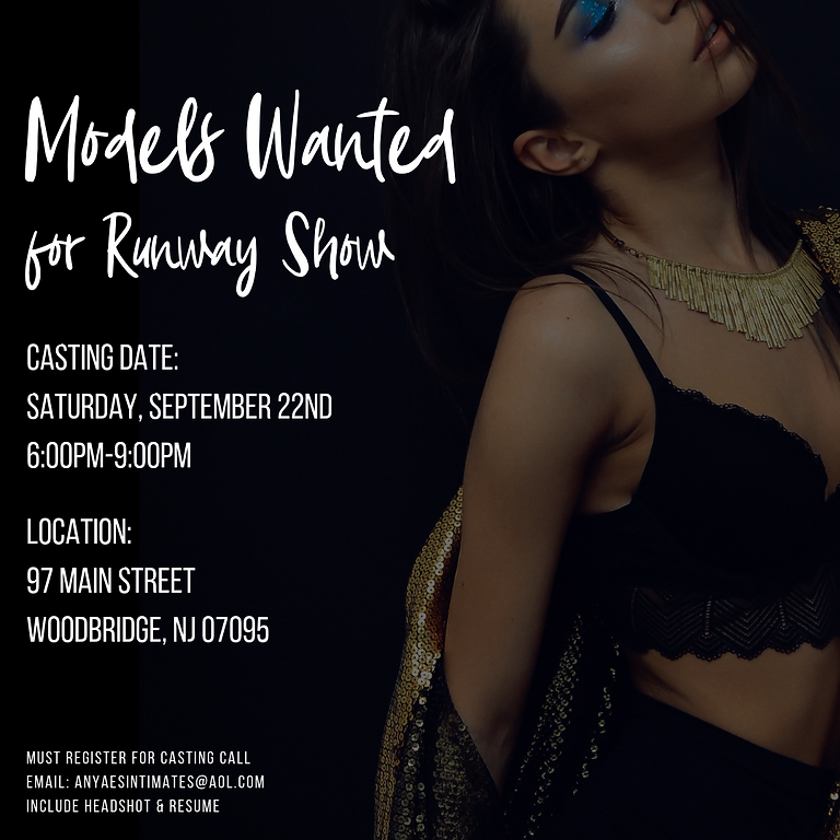 Casting Call for Runway Show Models