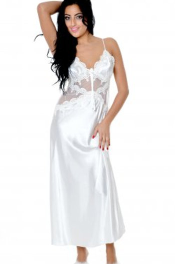 Charmeuse long gown bridal