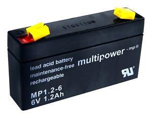 Blei-Akku XCell, Vision, Multipower 6V 1,2Ah