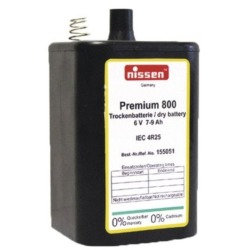 Blockbatterie Nissen 6V 7Ah 48 Stück