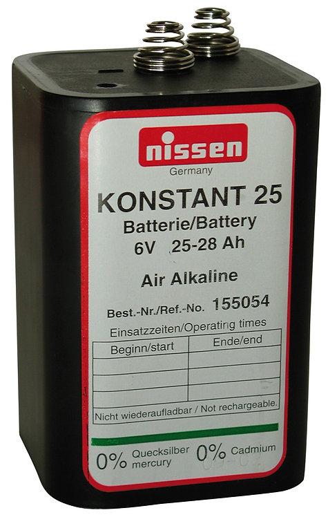 Blockbatterie Nissen 4LR25 6V 28Ah 72 Stück
