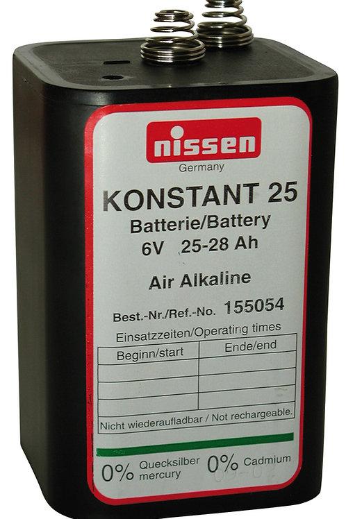 Blockbatterie Nissen 6V 28Ah 120 Stück