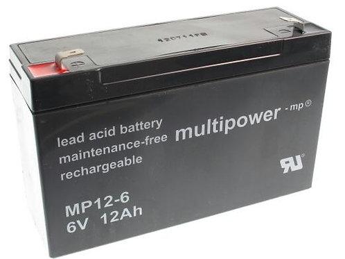 Blei-Akku XCell, Vision, Multipower 6V 12Ah