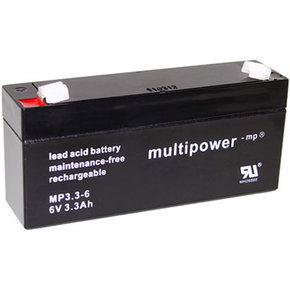 Blei-Akku XCell, Vision, Multipower 6V 3,2Ah